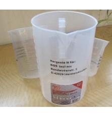 Sugraduotų plastikinių indų rinkinys 500-1000-2000ml 3vnt
