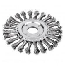 Šepetys disko tipo,stambus plienas 125mm 22,2mm skylė