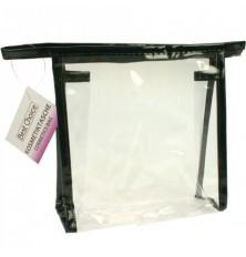 Krepšys kosmetinis skaidrus 18x18x5.5cm