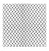 Grotelės aliumininės ,juodos spalvos 100cm x 25cm rašto tankumas 11mmx5mm)