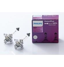 Lemputė H7 12V 2vnt. 55W +60% Vision Plus Philips