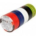 Izoliacinių juostų rinkinys 10vnt(įvairiaspalvės,12mmx10mx0,13mm
