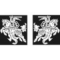 Lipdukas Vytis 2 vnt veidrodinis BALTAS BLIZGUS 18x20cm