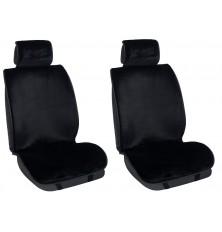 Sėdynių užtiesalai juodi 2vnt universalūs (dirbtinis kailis