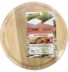 Virtuvinė pjaustymo lentelė 23x1cm apvali medinė