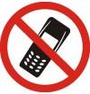 Lipdukas Kalbėtis telefonu draudžiama d.150mm