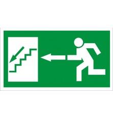 Lipdukas Laiptai žemyn į kairę100x180mm