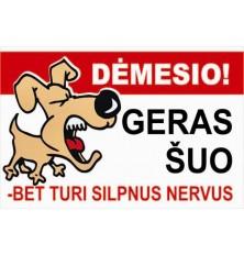Plastikinė lentelėGeras šuo -2200x300mm