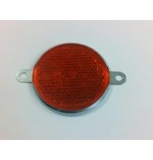 Atspindys apvalus 80mm su metalinėm auselėm oranžinis