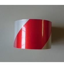 Lipni juosta šviesą atspindinti balta/raudona 5cm 6m.