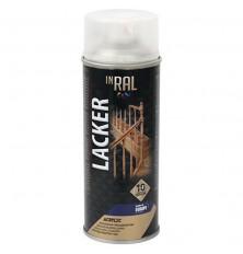 INRAL LACKER,skaidrus lakas 400ml,aeroz,akrilinis