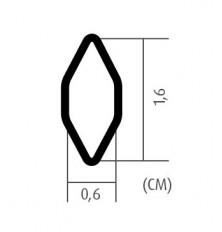 Grotelės juodos 100x25cm 6x16mm