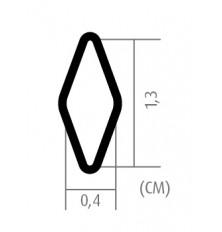 Grotelės aliumininės ,juodos spalvos 100cm x 25cm rašto tankumas 4x13mm