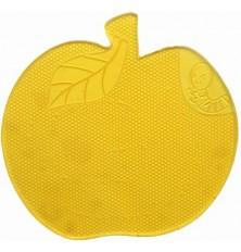 Kilimėlis lipnus silikoninis obuolys-gelsvas