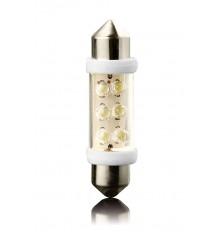 LED Lemputė automobilinė SV8,5, 36mm 12V 6led 2vnt