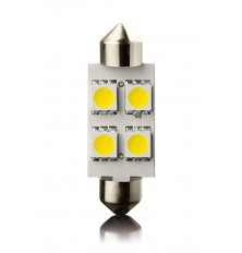 LED lemputė automobiliui SV 8,5 ,39mm ,12V 4led 2vnt