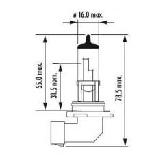 Lemputė HB4 9006 12V 55W P22D NARVA