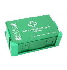 Įmonės vaistinėlė plastmasinė žalia sp. su laikikliu