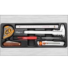 Rinkinys -priedai matavimui 7vnt į įrankių vežimėlius
