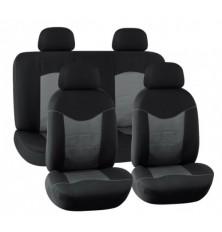 Sėdynių užvalkalai universalūs pilki-juodi