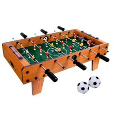 Žaidimas stalo futbolas su 18 žaidėjų (medinis, surenkamas, 69x37x24cm)