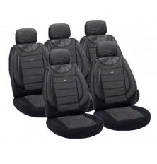 Sėdynių užvalkalai universalūs LUKS-19(juodi-pilki)su 2 užtrauktukais gale)