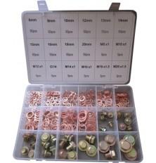Rinkinys varinių žiedų ir varžtų 534vnt plastmasinėje dėžutėje