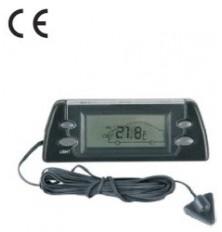 Termometras auto vidaus/lauko su LED