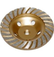 Deimant.puodo tipo šlifavimo diskas metalui 125xM14 turbo