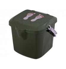 Krėslas -kibiras 15.5L žvejui žalios sp.