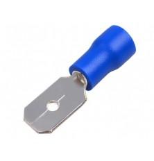 Kištukas izoliuotas 6.3/0.8(1,5-2,5mm2laidui)mėlyn.10vnt