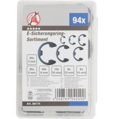Metrinių E-žiedų asortimentas | 3-15 mm | 94 vnt.