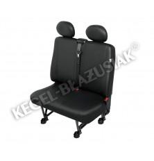 """Sėdynių užvalkalai mikroautobusams """"Practical"""" (dvivietei priekinei sėdynei)  Dirbtina oda PVC"""