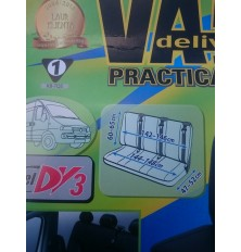 """Sėdynių užvalkalai mikroautobusams """"Practical"""" (Trivietei galinei sėdynei)  Dirbtina oda PVC"""