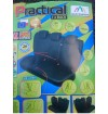 """Užvalkalų komplektas galinei sėdynei dirbtinos odos """"PRACTICAL"""" L-XL SUPER air bag juoda sp."""