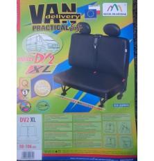 """Sėdynių užvalkalai mikroautobusams """"Practical"""" XL (dvivietei priekinei sėdynei)  Dirbtina oda PVC"""