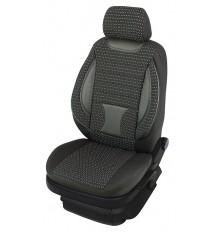 Sėdynių užvalkalai mikroautobusams universalūs 2+1 Deluxe-BUS (Juodi-pilki)