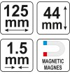 Kontūrų matuoklis ,šablonas ,trafaretas profiliams | 125 mm