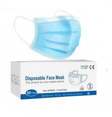 Kaukė su gumyte 3sl.mėlyna sp. 1vnt.