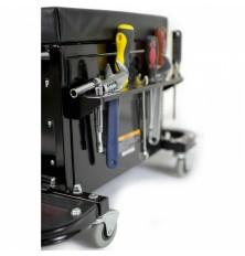 Kėdutė /įrankių spintelė su 3 stalčiais ir atlenk 2 lentynom
