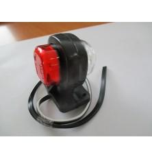 Žibintas LED 58x40mm raud/balt 2vnt. papildomi