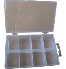 Dėžutė  8 skyrių  su dangteliu 130x85x30mm