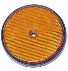 Atspindys automobiliui apvalus 60mm oranžinis su skylute