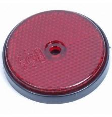 Atspindys automobiliui apvalus 60mm raudonas su skylute