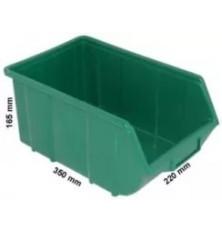 Dėžutė sandėliavimui žalia 220x355x167mm