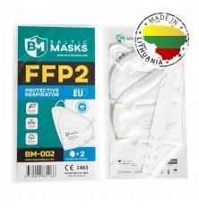 Respiratorius KN95 FFP2  be vožtuvo BM-02 2 vnt.