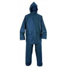 Kostiumas neperšlampamas L dydis PU/PVC mėlynas