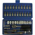 Įrankių ir galvučių rinkinys 46vnt įvairūs