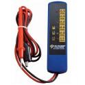 Testeris 12V baterijoms ir generatoriams, raudonas