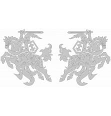 Lipdukas Vytis SIDABRO sp. 2vnt veidrodinis 18x20cm plateriuotas